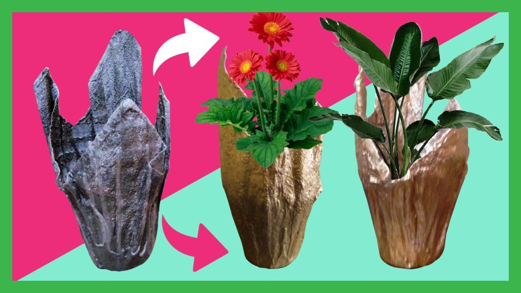 How To Make Cement Pots With Towels Easily at Home